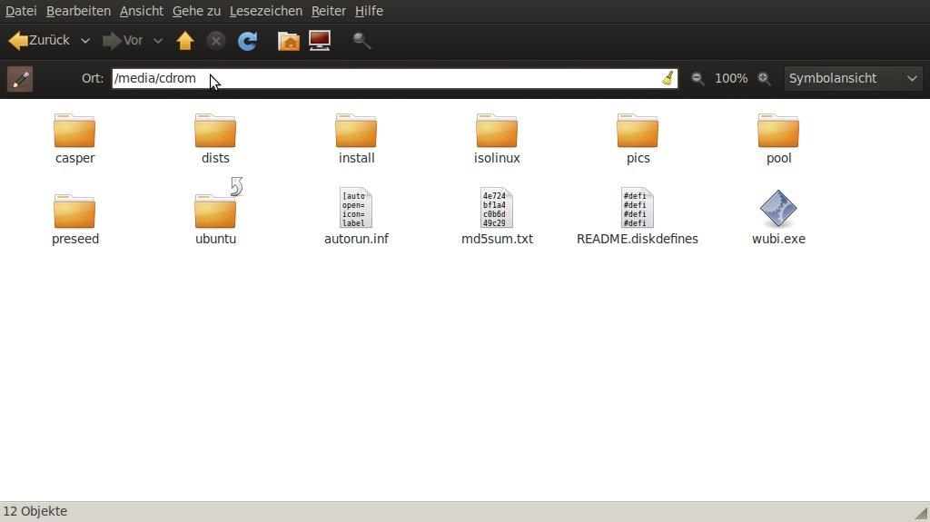 Ubuntu ISO mounten 01